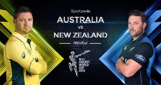Will New Zealand continue their outstanding form or stumble against the Aussies in the Cricket World Cup final on Sunday? Photo courtesy of sportzwiki.com