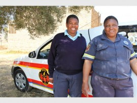 Tebogo Khumalo from the Public Information, Education and Relation Department and Emma Motswane from West Rand Emergency Services.