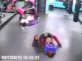 Screen shot of an armed robbery at a gym earlier this month in Voortrekker Road.
