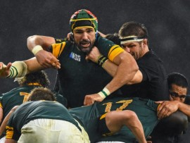 Victor Matfield in action against Richie McCaw. - Image by © Ramsey Cardy / SPORTSFILE/SPORTSFILE/Corbis