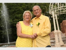 Jurie and Letitia Nieuwoudt, or Oupa and Ouma as they are known, recently celebrated their 62th wedding anniversary.