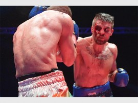 Local boxing sensation Ryno Liebenberg (white boxers) takes on Swedish boxer Erik Skoglund in an international light-heavy weight fight.