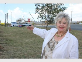 Lynn shows where the slipway would be.