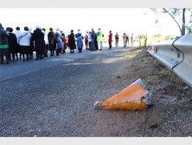 The mass prayer was held at the scene of the accident that claimed 15 lives.