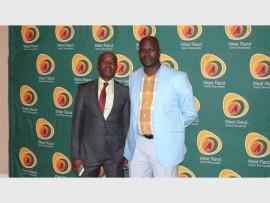 Zeblon Mphaphuli with Councillor Dennis Thebe.