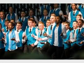 Hoërskool Noordheuwel se koor in volle harmonie tydens die kompetisie. Foto: Annemarie Wichmann.
