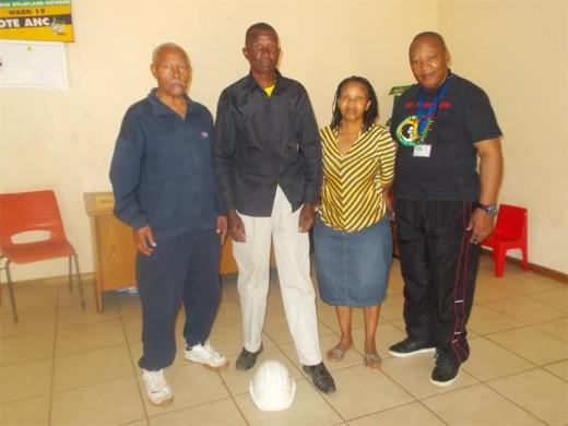 Thando Mdia, Sokude Ngeyane, Tilly Ntlanthlana and Mpho Mohafa form part of the Unxedo lo msebenzi committee.