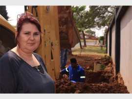 Solomie Kleyn, home owner on Batavia Street, is worried about the amount of water that was wasted even though the municipality replaced the burst water pipes.