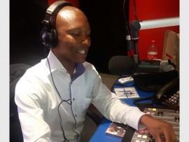 Tholang Lebelo, Mogale FM's award-winning radio presenter.