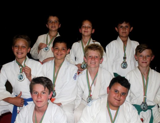 Back row: Paul van Gass, Danie Enslin and Otto van Eeden. Middle row: Kyle Wolter, Juan Swart, Ruben Basson and Nico Pieterse. Front row: Keagan Clancy and Hendrik Alberts. These judokas all won medals at this year's South African Judo Tournament held in Turffontein.