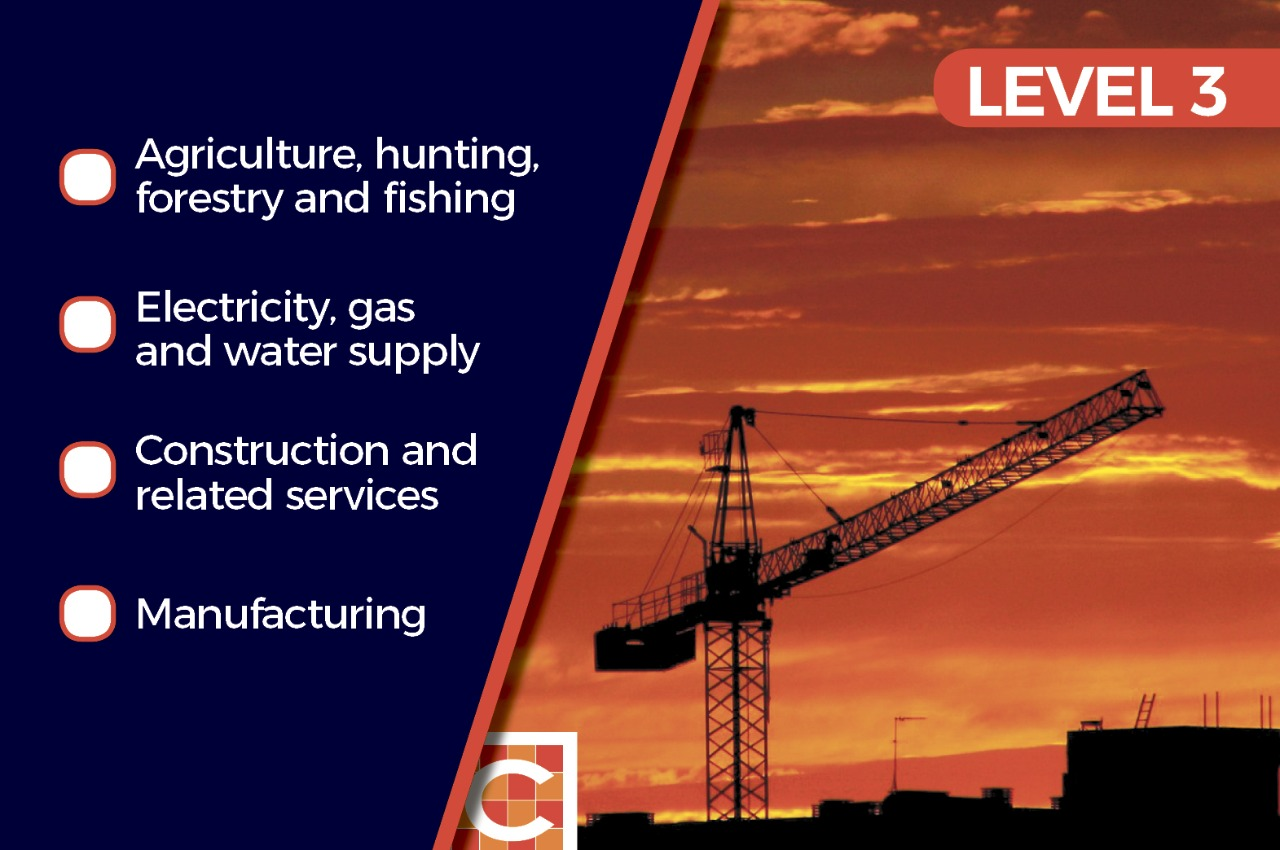 Level 3: Agriculture, manufacturing, electricity/gas and ...
