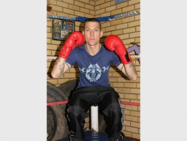 James Britz is ready for his debut boxing match tonight. Photo: Sonwabile Antonie