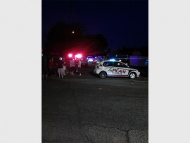 The scene of the shooting Saturday evening. (Photo: Supplied)