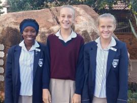 Maragon Private Schools' Ogechi Zulu, Morgan de Jager and Zenadia Sjibesma. Photo: Supplied