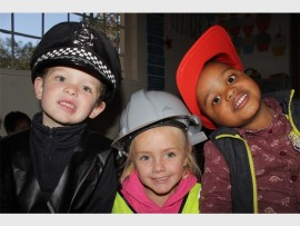 Police officer Ethan Sulter, Builder Cherika Coetzer and Fireman Ndalo-enhle Ntshalishali. Photos: Sonwabile Antonie