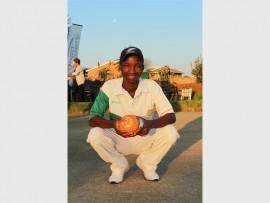 Witpoortjie Bowling Club's Wilson Malobolo, last year's Sables Masters Champion. Photo: Sonwabile Antonie