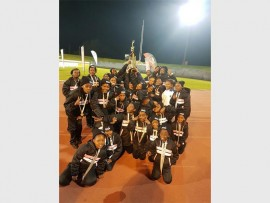 Laerskool Roodebeeck's team holding their trophy aloft. Photo: Supplied