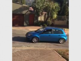 A resident managed to capture this pic of the assailants' vehicle on her cellphone camera. (Picture: Supplied)