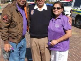Carl Alexander (Aleaxander Harvest Time Foundation), Chief Superintendent Wayne Minnaar and Jill Alexander. Photo: Adéle Bloem