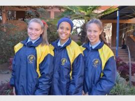 Raquelle Pretorius, Zoë van der Plank en Monique du Toit is Bastion se Suid-Gauteng-hokkiesterre. Foto: Ingestuur