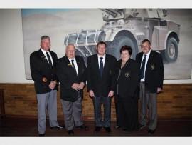 Sergeant Major Piet Combrinck, Old Bill Kallie Calitz, Wee Bill Leon du Plessis,scribe Natasha Calitz and Pay Bill Ben Strydom. (Photo: Supplied)