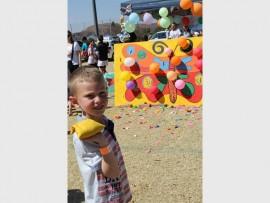 Ethan le Roux het die dag se aktiwiteite baie geniet.
