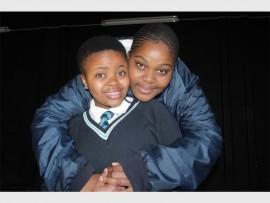 Hoërskool Die Adelaar's Thato Fepane and Mbalenhle Sikhakhane. Photo: Sonwabile Antonie