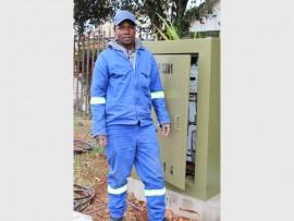 Almando Sibinde, a City Power employee. Photo: Adéle Bloem