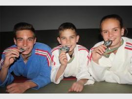 Hunter Erasmus, Ivan Olivier and Tegan Malherbe. Photo: Sonwabile Antonie