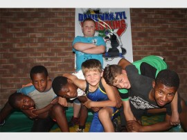 Back: Willem Nel Front: Sphamandla Mohamotsa, Darren Dickman, Kenny Siyabonga, Jaun Esterhuizen, Christopher Schaper and Daniel Mashinini. Photo: Sonwabile Antonie