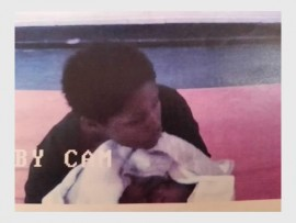 A screen grab of CCTV footage of the baby. (Photo: Supplied)