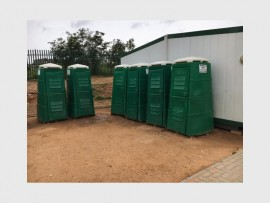 Temporary toilets are being used. Photo: Supplied