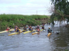 Canoeists getting themselves ready for the seeding race. Photo: Supplied