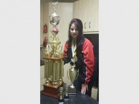 Rhode Ackerman with her trophies. Photo: Supplied