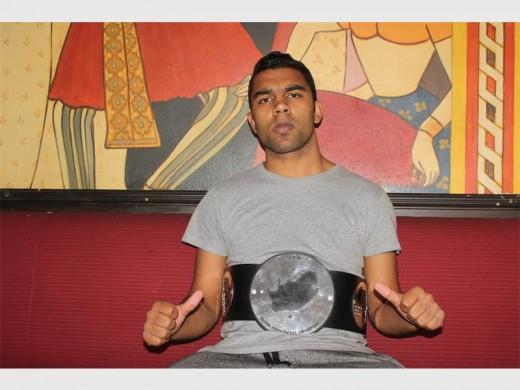 Local wrestler Ultimate Nathan  wins Durban title. Photo: Sonwabile Antonie