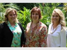 Van links: Helen Visagie, Heilena Terblanche en Monique Kilian. Fotos: Verskaf