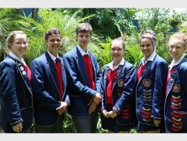Van links: Nicole Theron, Freddie Jacobs, Gerhard Duminy, Inge du Plessis, Leandri Myburgh en Clerise Alexander. Foto: Verskaf