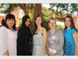 Helen Deroucakis, Ameena Suliman, Carla Grobler, Samantha Trent and Shayna Michel. Photo: Sonwabile Antonie