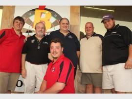 Craig Slabber, Johan von Brandis, Ryno du Plooy, Tooi and Crucnhy Engelbrecht.  Front Mitch Minnie. Photo: Sonwabile Antonie