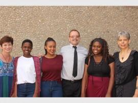 Ronelle Labuschagne, Nhlanhla Skosana, Mbali Twala, Principal Dries Wilters, Simphiwe Zikalala and Lynette Scott. Photo: Sonwabile Antonie