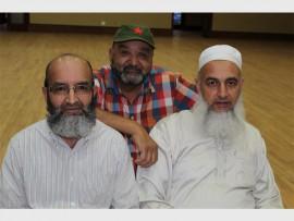 Mohamed Azhaz Choonaza, Bashir Ahmed Munshi and Yusuf Cajee attended the public meeting. Photos: Adéle Bloem