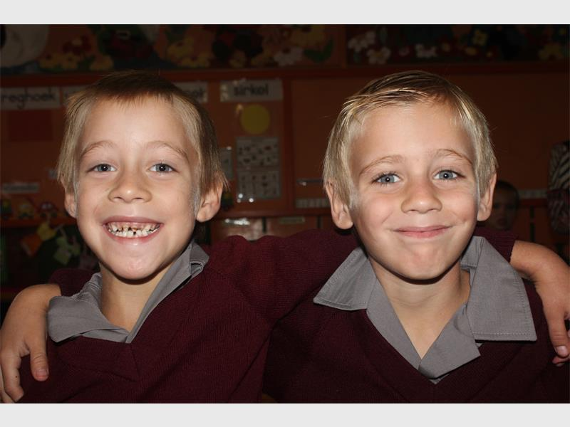 Laerskool Florida twins Zachary and Elijah Viljoen.