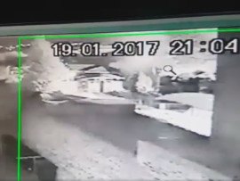 CCTV footage emerged of the explosion