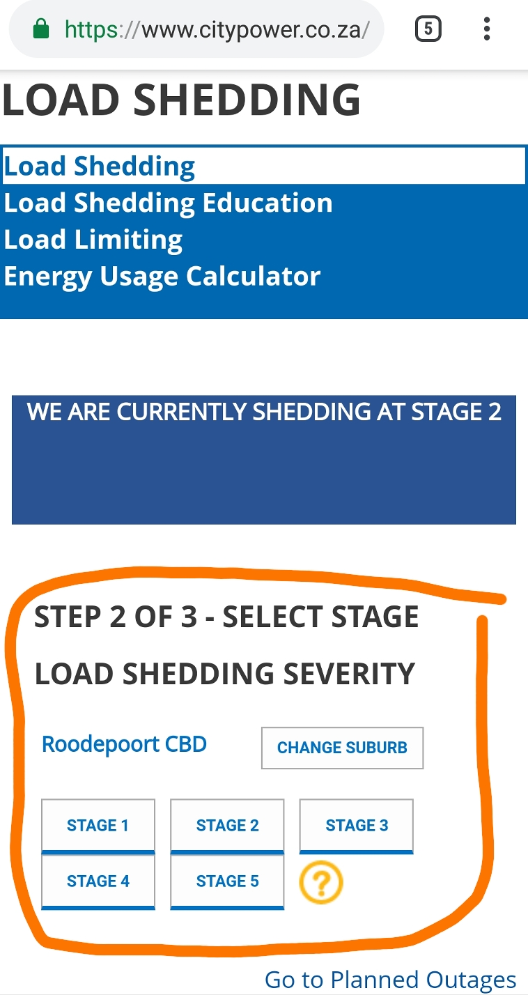 How to check your loadshedding schedule   Roodepoort Record
