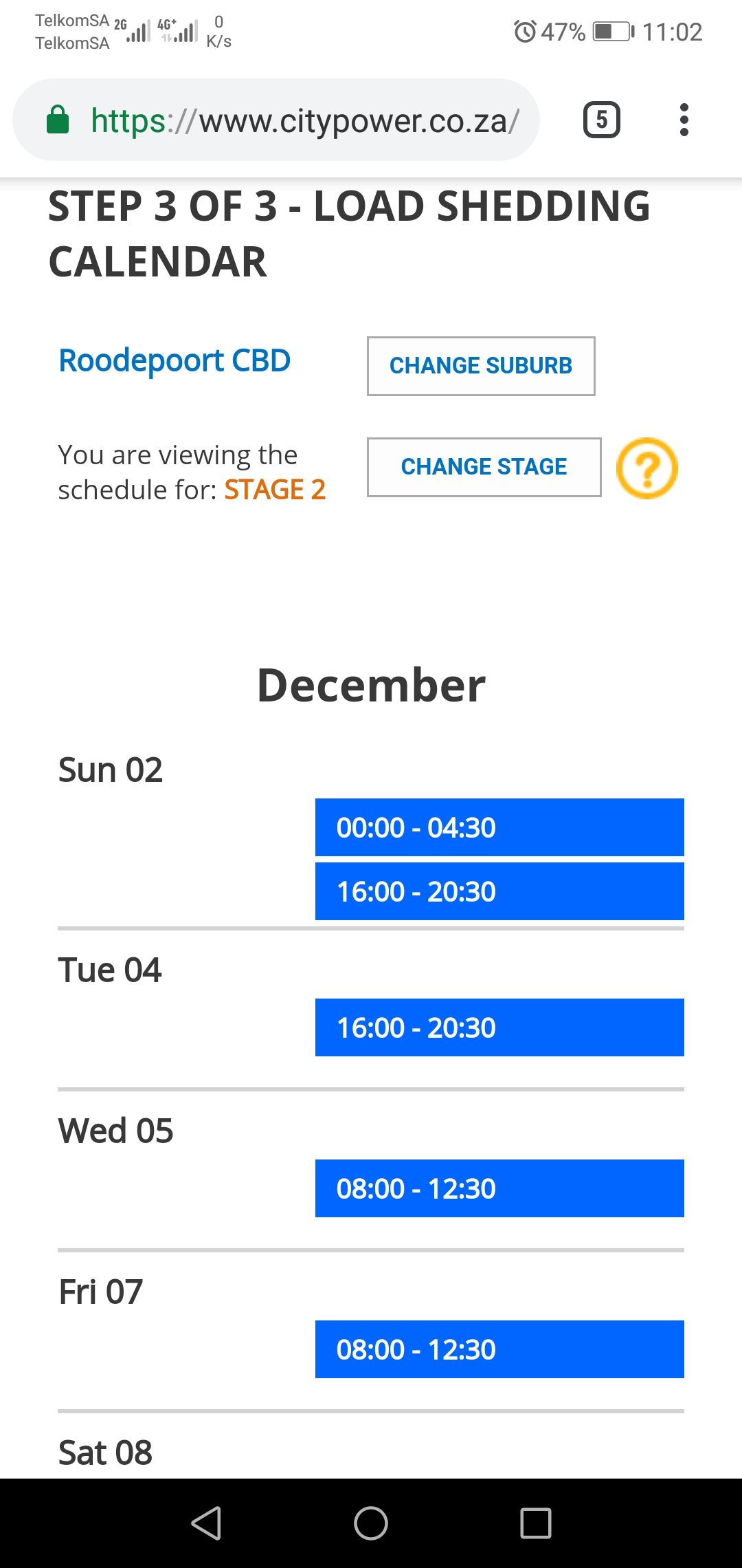 How to check your loadshedding schedule | Roodepoort Record