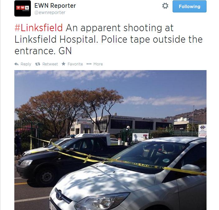 School Shooting Johannesburg: UPDATE: Shooting At Linksfield Hospital