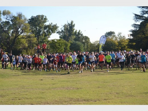 On your marks, get set, go! The runners begin the Gillooly's parkrun.
