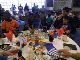 """Pebbles Nursery School in Bedfordview hosted a Father's Day event on June 10. """"The children prepared a mini concert for the dads and the guest speaker was Captain Andrew Mildenhall, from SAA. The children joined their daddies and had boerewors rolls for lunch,"""" said the school's Daphne Van Aardt."""
