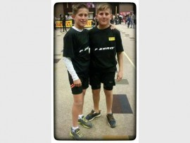 Twins Jason and Mathew Vosloo at the Arnold Classic event.