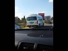 WATCH as motorists block R24 emergency lane following truck crash this afternoon